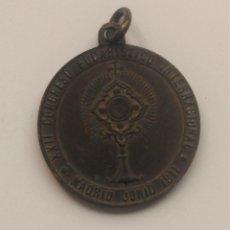 Antigüedades: MEDALLA XXII CONGRESO EUCARÍSTICO INTERNACIONAL MADRID JUNIO 1911. Lote 58501282