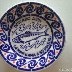 Antigüedades: PLATO DE SARGADELOS. PESCADO AZUL, LA MAR LLAMA A SU PUERTA.. Lote 58502738