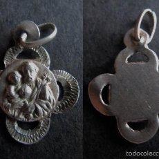 Antigüedades: MEDALLA RELIGIOSA ANTIGUA SAN JOSE PLATA CINCELADA. Lote 58504934