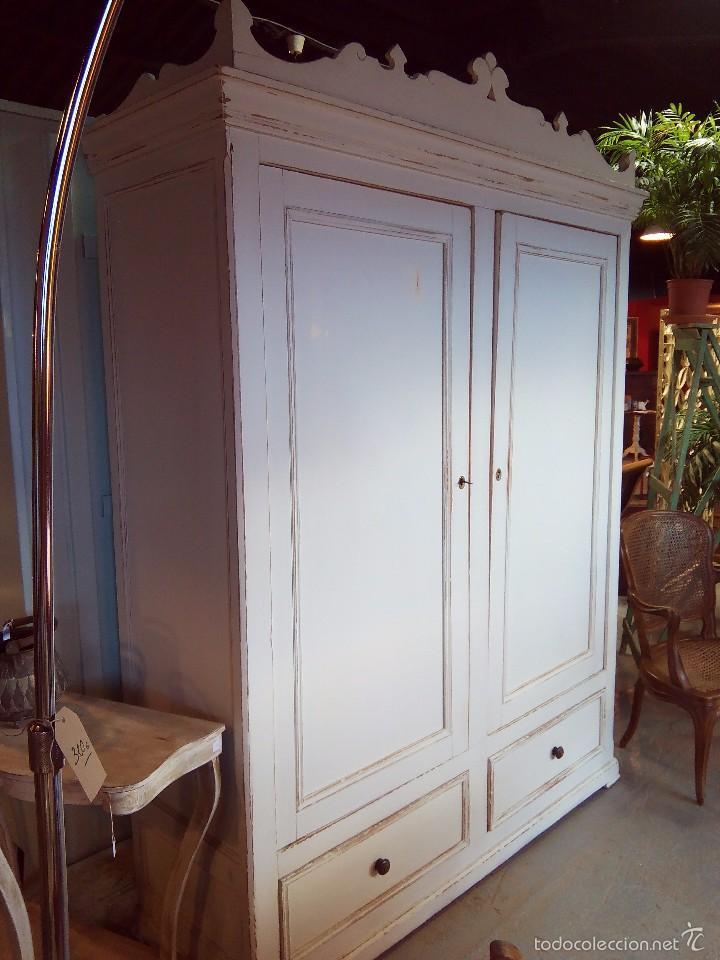 Armario Lavanderia Aereo ~ armario ropero decapado en blanco Comprar Armarios Antiguos en todocoleccion 58507677