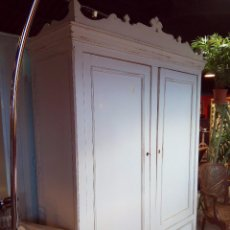 Antigüedades: ARMARIO ROPERO DECAPADO EN BLANCO. Lote 58507677