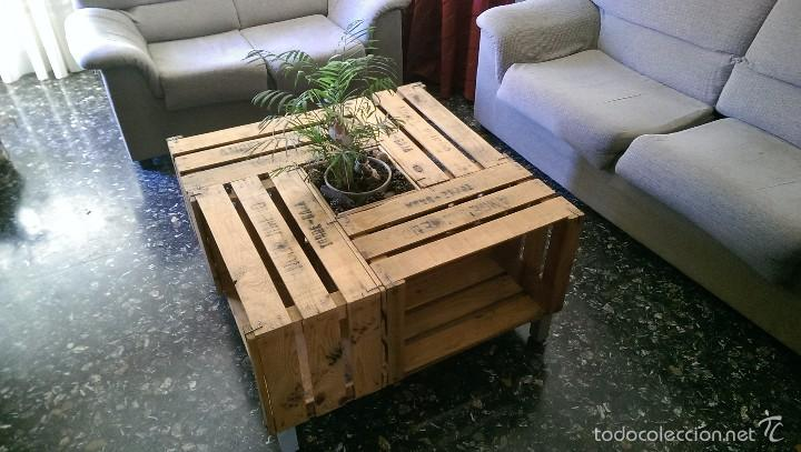 Mesa Elaborada Con Cajas De Fruta Antiguas Comprar Mesas Antiguas