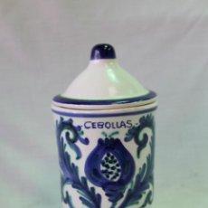 Antigüedades: TARRO CEBOLLAS EN CERAMICA DE FAJALAUZA. Lote 58521189
