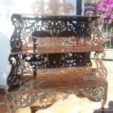 Antigüedades: ESTANTERIA CON DIBUJO MUY DETALLADO, ANTIGUA, MADERA. Lote 58528037