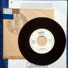 Discos de vinilo: JUEGO PROHIBIDO: QUÉ DIFÍCIL ES, SINGLE VADERECORDS SD-103-2V, 1992. EX. CON HOJA PROMO.. Lote 58537685