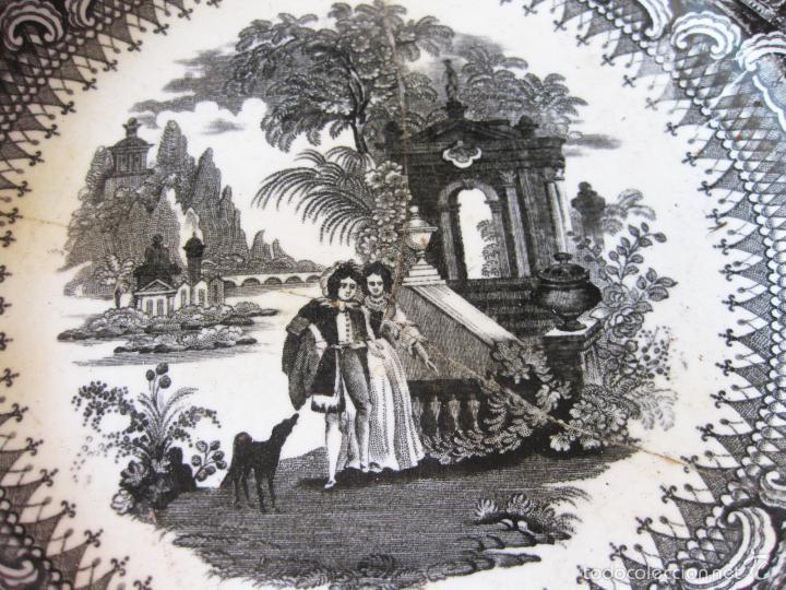 Antigüedades: PLATO DE PORCELANA DE FALCO Y COMPAÑIA. VALDEMORILLO - Foto 2 - 58539764