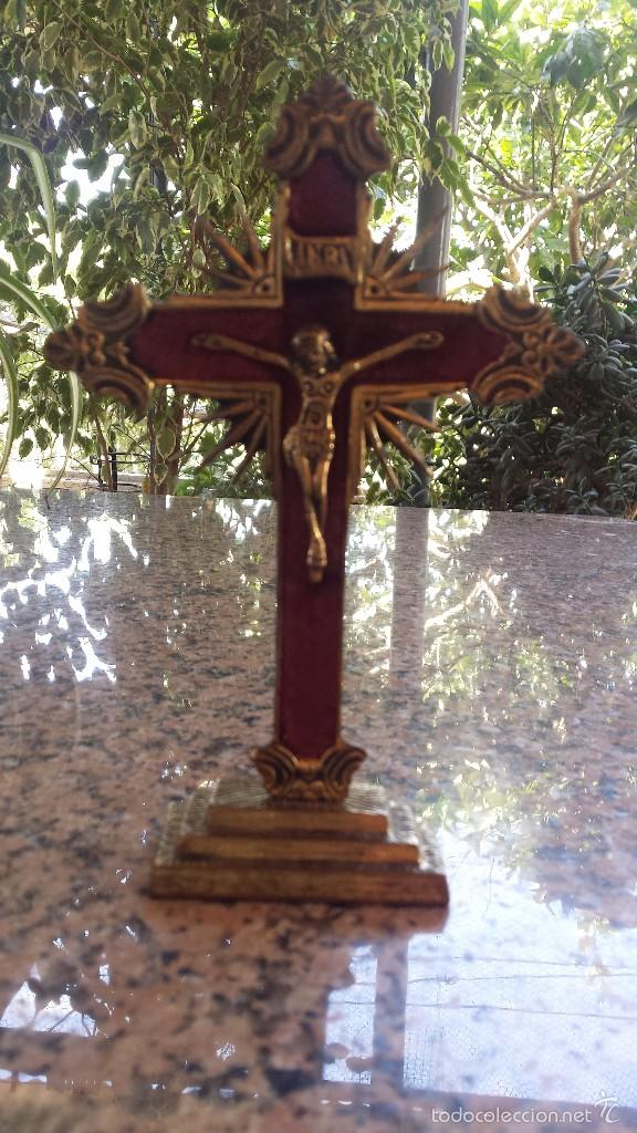 ANTIGUA CRUZ DE BRONCE. PRECIOSA (Antigüedades - Religiosas - Cruces Antiguas)