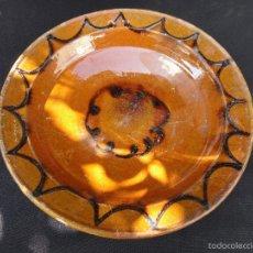 Antigüedades: ALFARERÍA CATALANA: PLATA DE OLOT. Lote 58541652