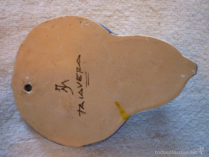 Antigüedades: ANTIGUA BENDITERA DE TALAVERA JM decorada a mano - Foto 2 - 58542288