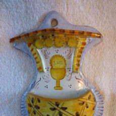 Antigüedades: ORIGINAL Y ANTIGUA BENDITERA PINTADA A MANO. Lote 58542663