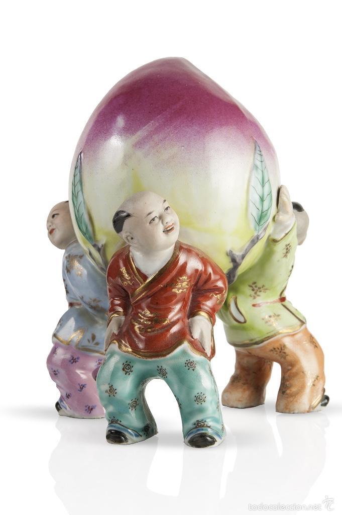 Antigüedades: Tres niños porcelana china siglo xx - Foto 4 - 58564929
