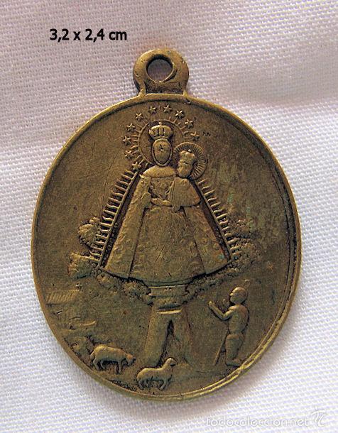 MEDALLA ANTIGUA BRONCE N. SRA DE CORTES ALCARAZ ALBACETE (Antigüedades - Religiosas - Medallas Antiguas)