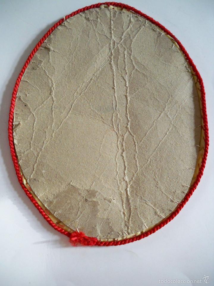 Antigüedades: CHARITAS - PARCHE DE TELA OVALADO - 14X11 - Foto 2 - 58569635