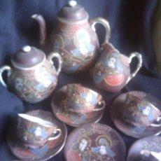 Antigüedades: ~~~~ ANTIGUO JUEGO DE CAFE PARA SEIS SERVICIOS PORCELANA SATSUMA ~~~~. Lote 58570660