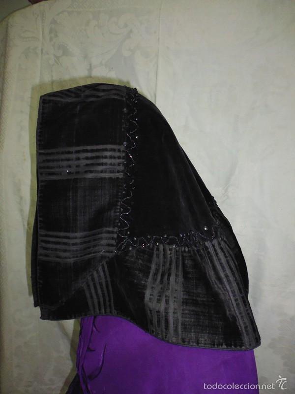 Antigüedades: Mantilla de terciopelo rayado - Foto 2 - 58577914