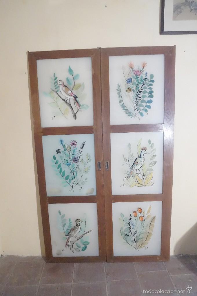Antiguas puertas de armario de cristal pintado comprar - Puertas antiguas segunda mano ...