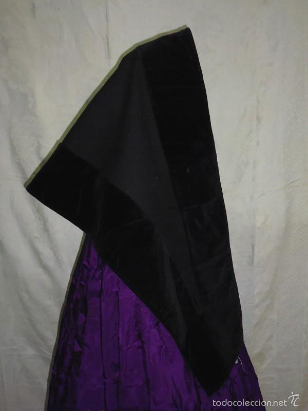 Antigüedades: Mantilla de paño y terciopelo - Foto 2 - 58578266