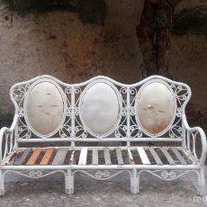 Antigüedades: GRAN BANCO SOFÁ DE JARDÍN. Lote 58588041