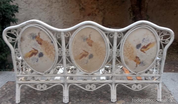 Antigüedades: Gran banco sofá de jardín - Foto 2 - 58588041