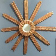 Espejo Sol Madera Tallada dorada