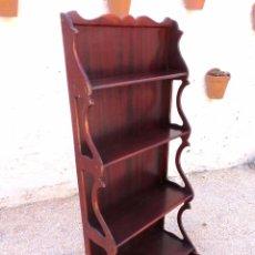 Antigüedades: ANTIGUA REPISA EXPOSITOR DE MADERA PARA SUELO. Lote 58597100