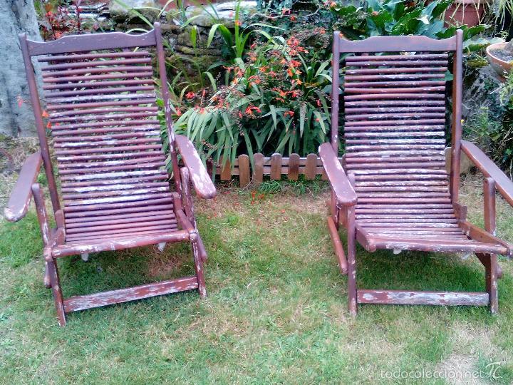 Pareja tumbona hamaca silla plegable de madera comprar for Silla tumbona plegable