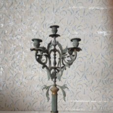 Antigüedades: PRECIOSO CANDELABRO EN MARMOL Y BRONCE PARA RESTAURAR. Lote 58602389