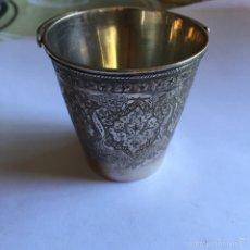 Antigüedades: PRECIOSO VASITO ANTIGUO EN PLATA. Lote 58608360