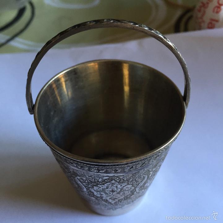 Antigüedades: Precioso vasito antiguo en plata - Foto 3 - 58608360