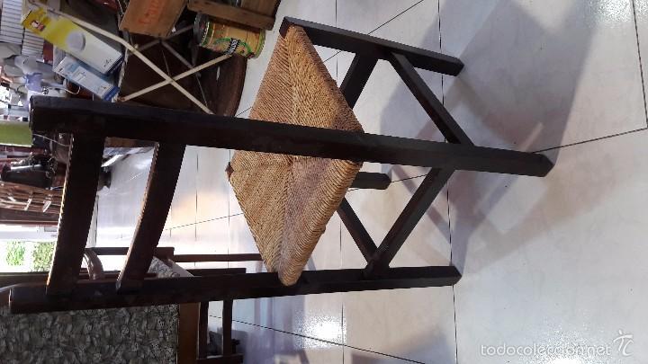 Antigüedades: silla de madera y enea - Foto 2 - 58613002