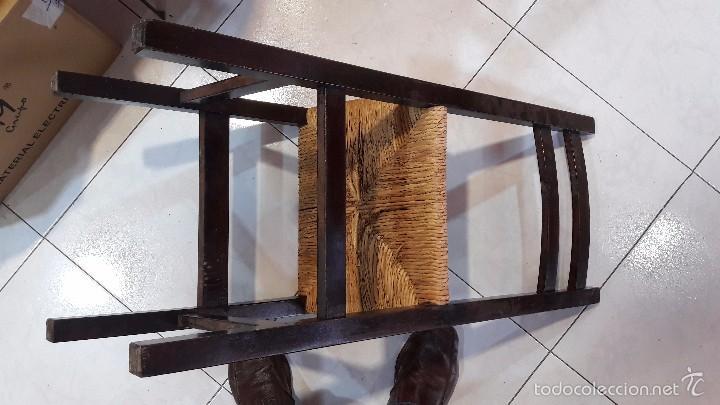 Antigüedades: silla de madera y enea - Foto 4 - 58613002