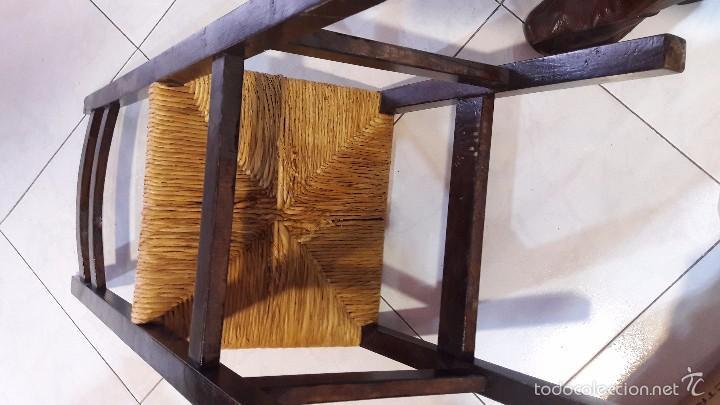Antigüedades: silla de madera y enea - Foto 5 - 58613002