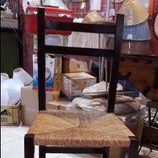 Antigüedades: SILLA DE MADERA Y ENEA. Lote 58613002