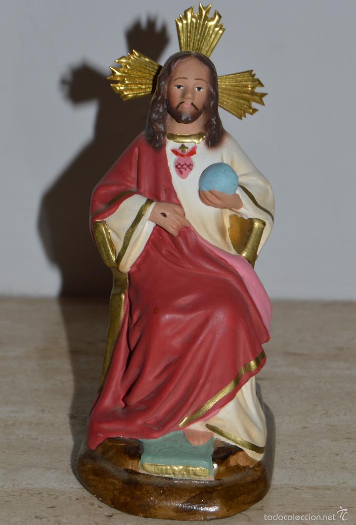 IMAGEN DE CRISTO REY (Antigüedades - Religiosas - Varios)