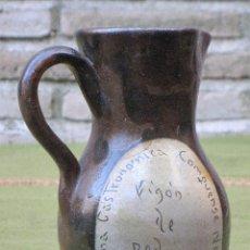 Antigüedades: JARRA EN CERAMICA VIDRIADA - FIGON DE PEDRO - NOV. 81 - CUENCA. PRIEGO.. Lote 58622486