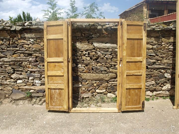 Antigüedades: Antigua PUERTA doble SIGLO XVIII - Foto 3 - 58622989