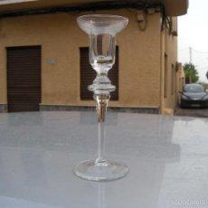 Antigüedades: CANDELERO CANDELABRO DE CRISTAL. Lote 58626392