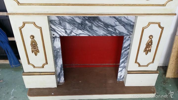 Antigüedades: mueble imitacion a chimenea - Foto 2 - 58633475