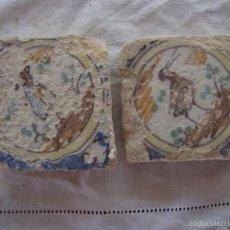 Antigüedades: PAREJA OLAMBRILLAS (AZULEJOS) SIGLO XVIII TRIANA. Lote 58648074