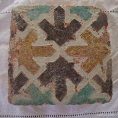 Antigüedades: AZULEJO MUDEJAR SIGLO XV. Lote 58648381