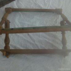 Antigüedades: ANTIGUO BASTIDOR DE COSTURA, MADERA TORNEADA. Lote 58654880