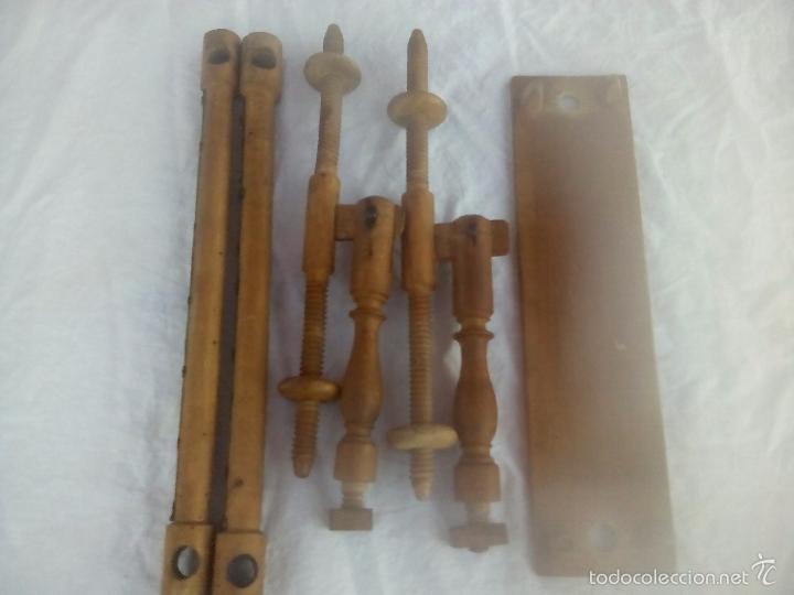 Antigüedades: ANTIGUO BASTIDOR DE COSTURA, MADERA TORNEADA - Foto 8 - 58654880