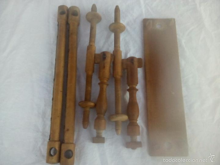 Antigüedades: ANTIGUO BASTIDOR DE COSTURA, MADERA TORNEADA - Foto 9 - 58654880