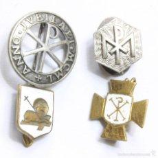 Oggetti Antichi: LOTE 4 PINS ECLESIASTICOS. INTERESANTES.. Lote 58655347