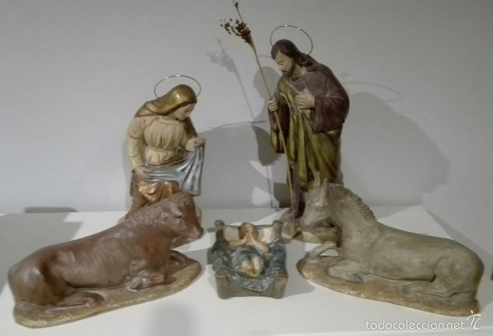 FIGURAS DE NACIMIENTO, BELEN, PESEBRE, NAVIDAD OLOT (Antigüedades - Religiosas - Varios)