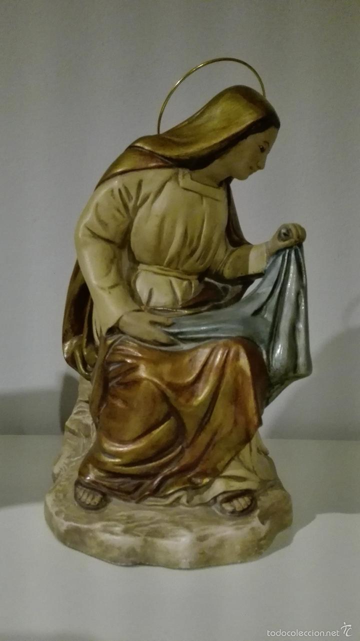 Antigüedades: Figuras de nacimiento, belen, pesebre, navidad olot - Foto 3 - 58656099
