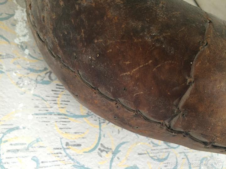 Antigüedades: ANTIGUA COLLERA EN CUERO - Foto 5 - 58656543