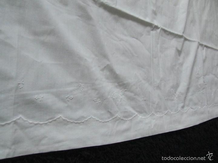 Antigüedades: Sábana bordada + funda de almohada cama grande - Foto 4 - 58663803