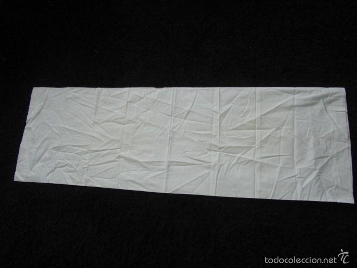 Antigüedades: Sábana bordada + funda de almohada cama grande - Foto 9 - 58663803