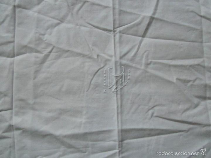Antigüedades: Sábana bordada + funda de almohada cama grande - Foto 14 - 58663803